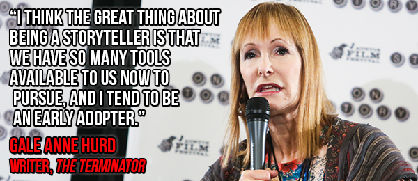 Caption: writer, Gale Anne Hurd