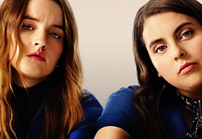 Caption: Kaitlyn Dever and Beanie Feldstein in 'Booksmart'
