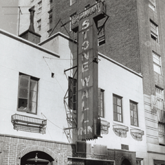 Caption: The Stonewall Inn, NYC, Credit: Diana Davies via New York Public Library