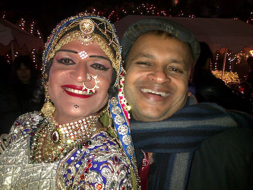 Caption: Queen Harish and Sandip Roy