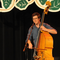 Caption: The incredible Scott Mulvahill on the upright bass.