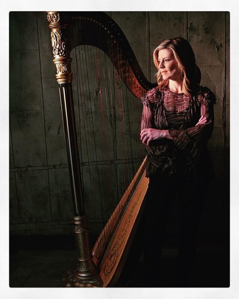 Caption: Harpist Kirsten Agresta Copley, Credit: courtesy of the artist
