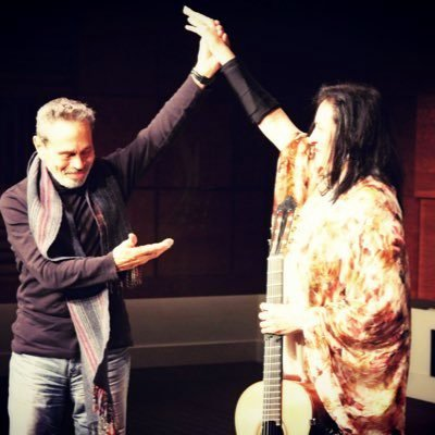 Caption: Leo Brouwer and Iliana Matos, Credit: Iliana Matos
