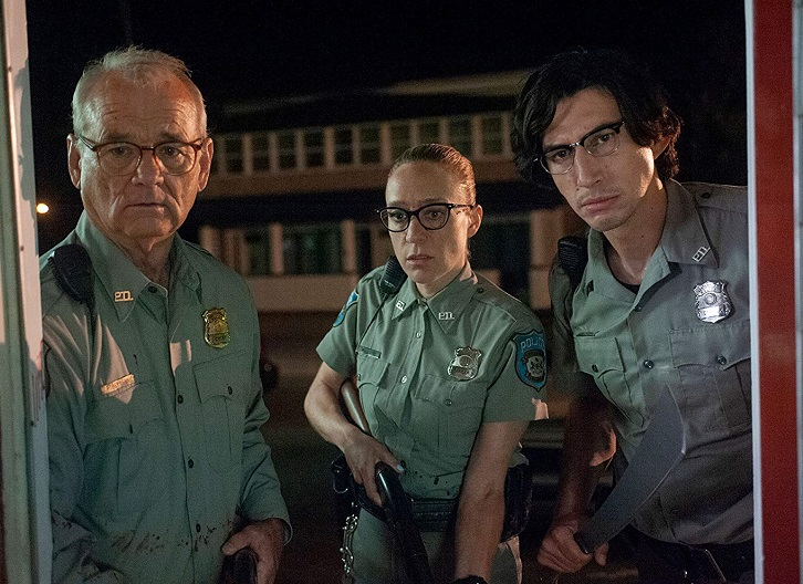 Caption: Bill Murray, Chloë Sevigny, and Adam Driver in 'The Dead Don't Die'