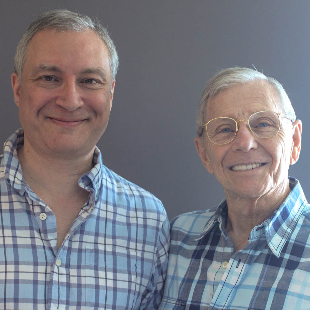 Caption: David Farah (L) and Alexei Romanoff (R) at their StoryCorps interview in Los Angeles, California in June 2015. By Jill Glaser for StoryCorps.