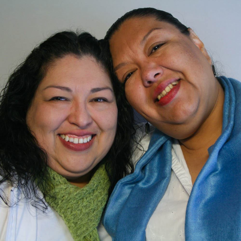 Caption: Candi and Estela Reyes at their StoryCorps interview in El Paso, Texas in 2012. By Anaid Reyes for StoryCorps.