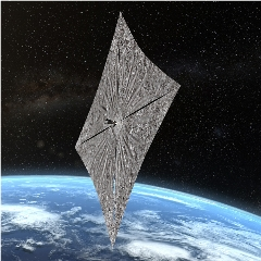 Caption: Artist concept of the LightSail 2 spacecraft sailing over Earth, Credit: The Planetary Society/Josh Spradling