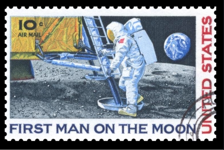 Caption: First Man On The Moon, Credit: 50th Anniversary