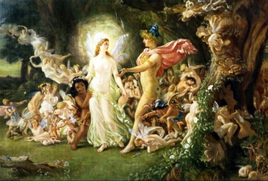 Caption: Midsummer night's dream, Credit: Sir Joseph Noel Paton