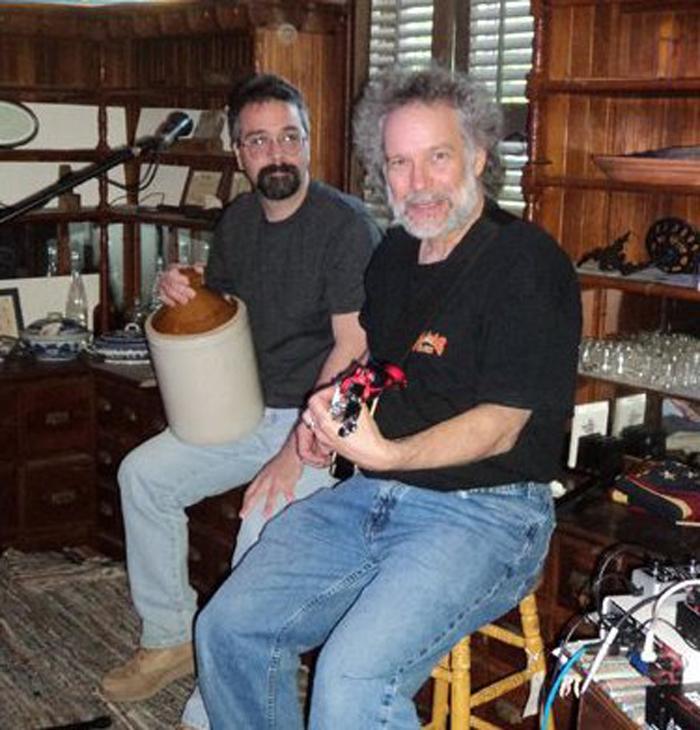 Caption: John Gorka with Charlie and Up Close And Acoustic, Credit: Up Close And Acoustic