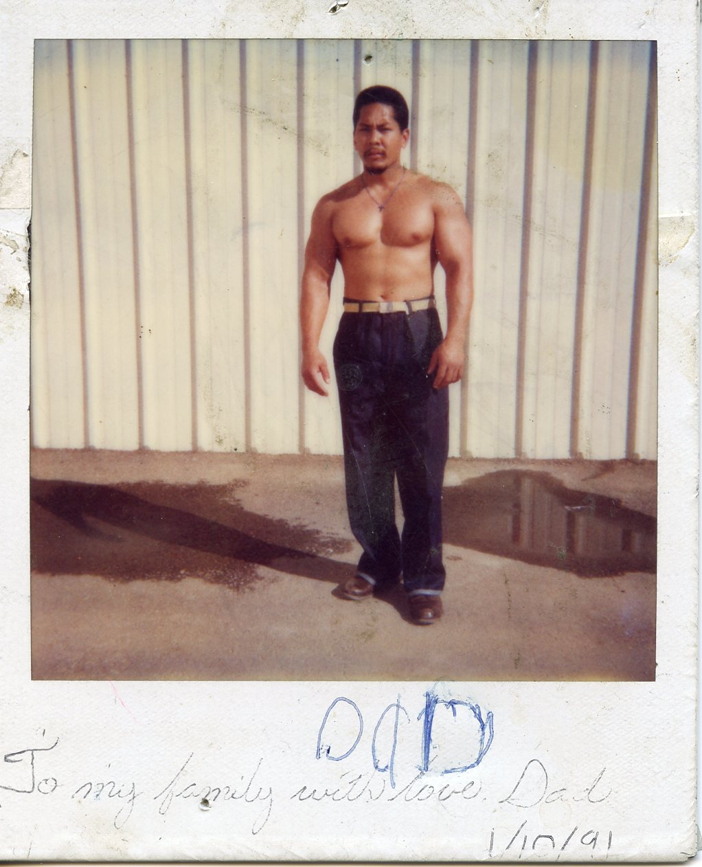 Caption: Melissa Dueñas' dad in Donovan Correctional Facility in the early 1990s., Credit: Photo courtesy of Melissa Dueñas