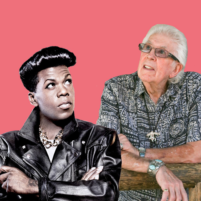 Caption: Big Freedia and John Mayall, Credit: David Gomez
