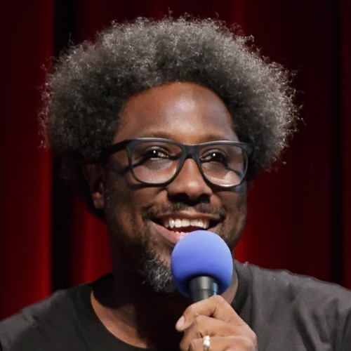 Caption: W. Kamau Bell on Live Wire, Credit: Jennie Baker