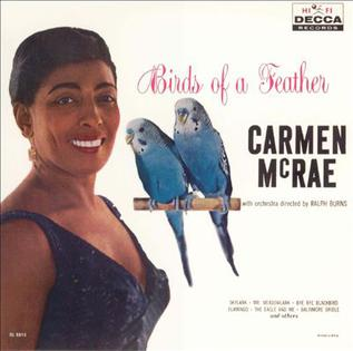 "Caption: Carmen McRae's 1958 album ""Birds Of A Feather"", Credit: Album Cover"