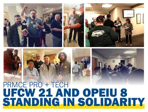 Caption: OPEIU 8 & UFCW 21