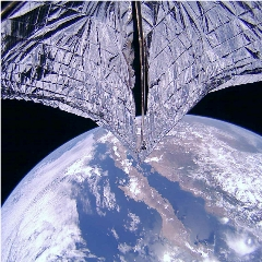 Caption: First hi-res image returned by LightSail 2 after deployment of its sails reveals Baja California far below., Credit: The Planetary Society