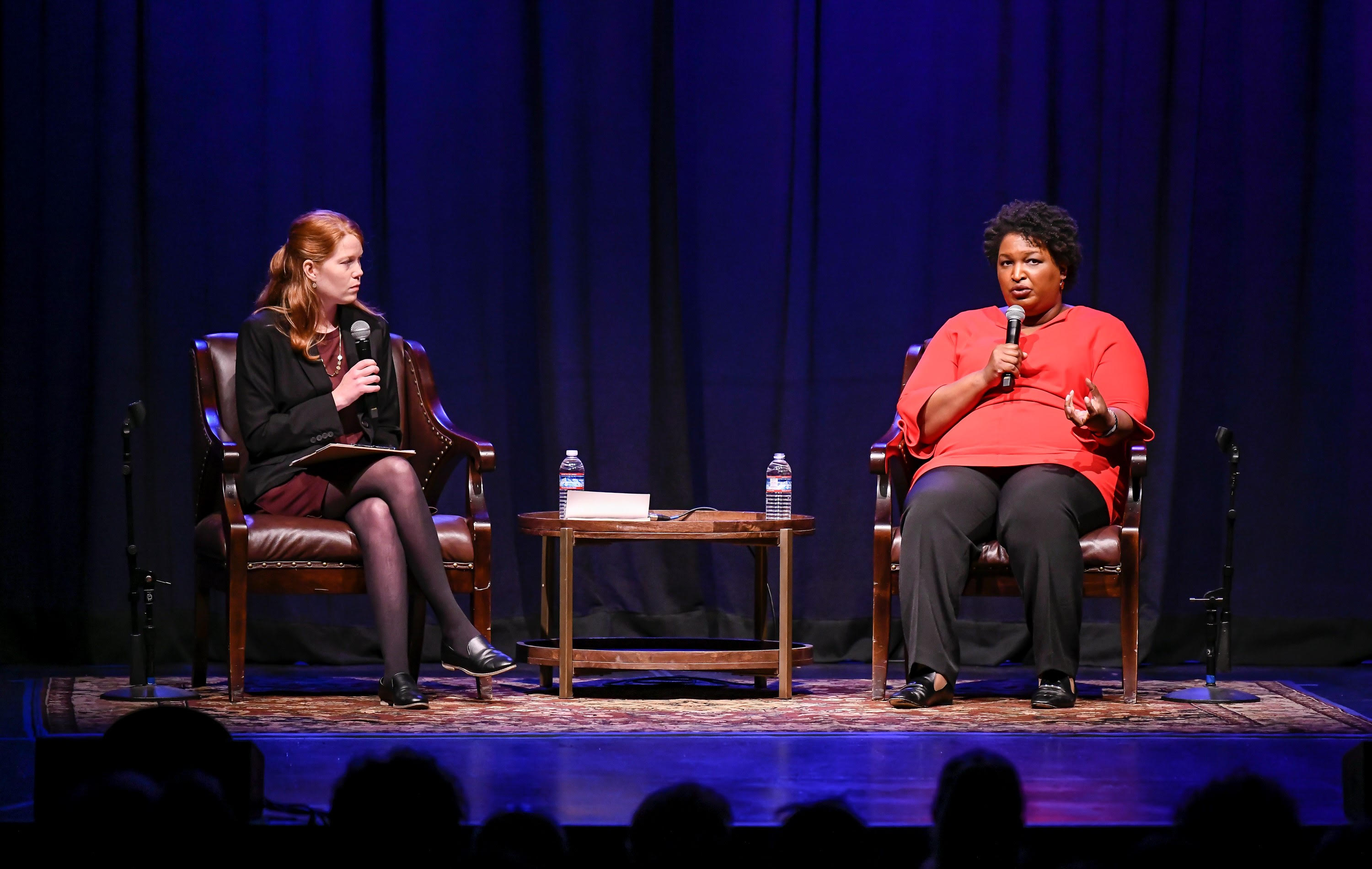 Caption: Adia White and Stacey Abrams, Credit: Steve Jennings