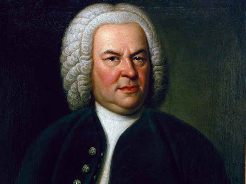 Caption: Bach by Elias Gottlob Haussmann, Credit: NPR