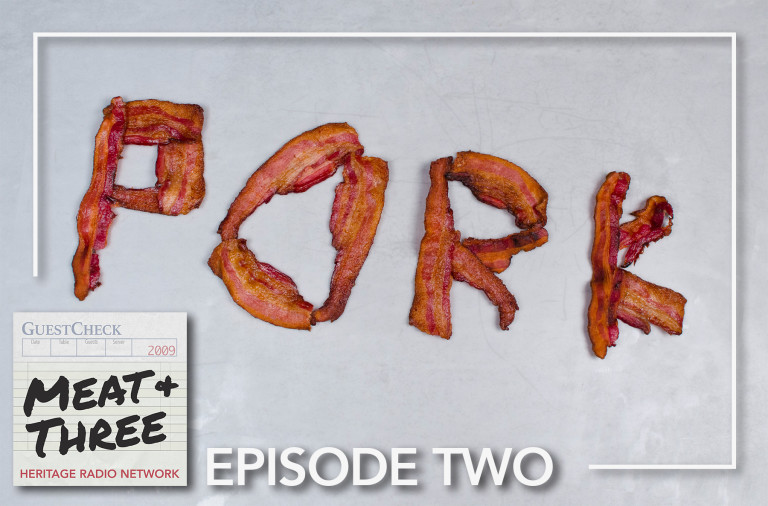 Caption: About the episode art: after making some delicious BLTs with the Heritage Foods team, we got creative with the leftover bacon! (And then ate it, of course.) Thanks to Patty Lee and Ben Tansel for their food styling expertise!