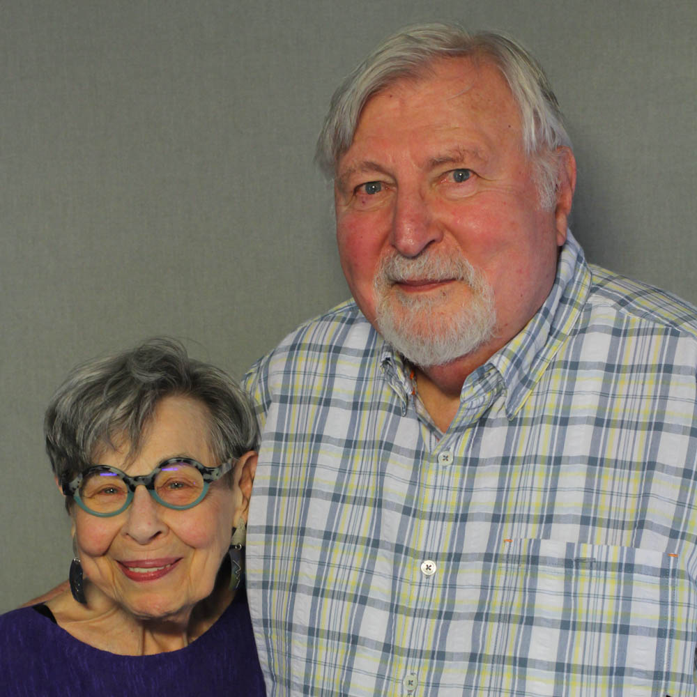 Caption: Julia and Joel Helfman at their StoryCorps interview in Philadelphia, PA in 2019., Credit: By Eleanor Vassili for StoryCorps