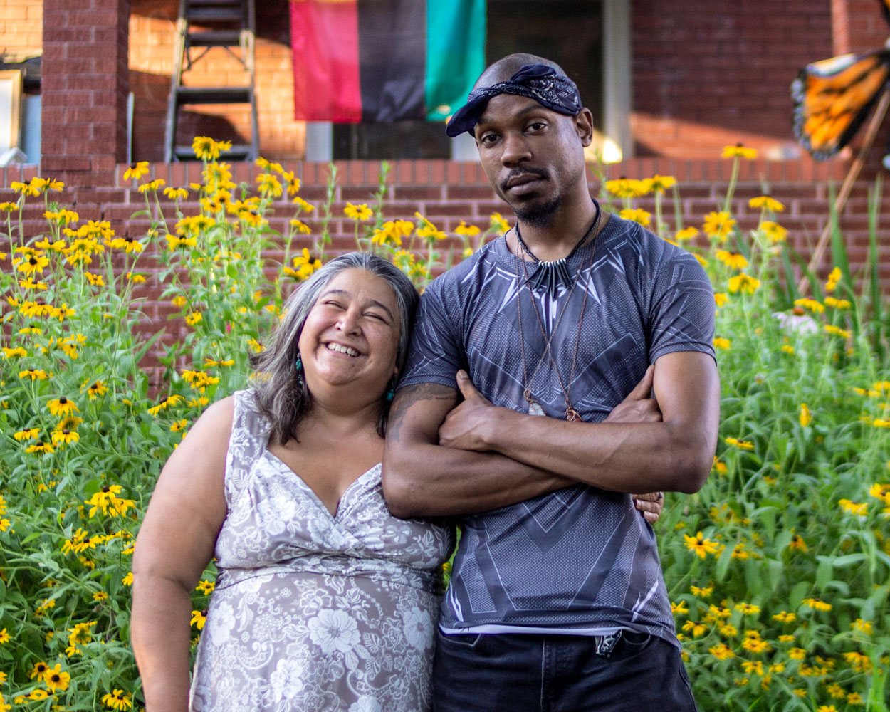 Caption: Elizabeth Vega and Jamell Spann at their StoryCorps interview in St. Louis, Missouri on June 27, 2019. , Credit: Dupe Oyebolu for StoryCorps