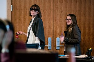 Caption: Cate Blanchett and Emma Nelson in 'Where'd You Go, Bernadette'