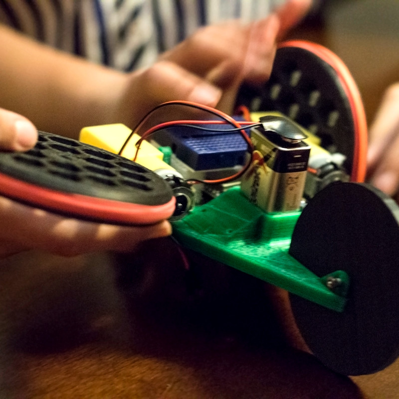 Caption: Photo of the robot from Every Kid Gets a Robot., Credit: Danielle Boyer, The STEAM Connection.