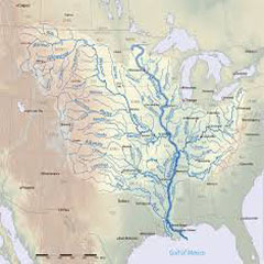 Caption: Mississippi River map