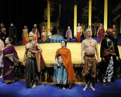 Caption: Clay Cart ensemble, Credit: Courtesy of the Oregon Shakespeare Festival