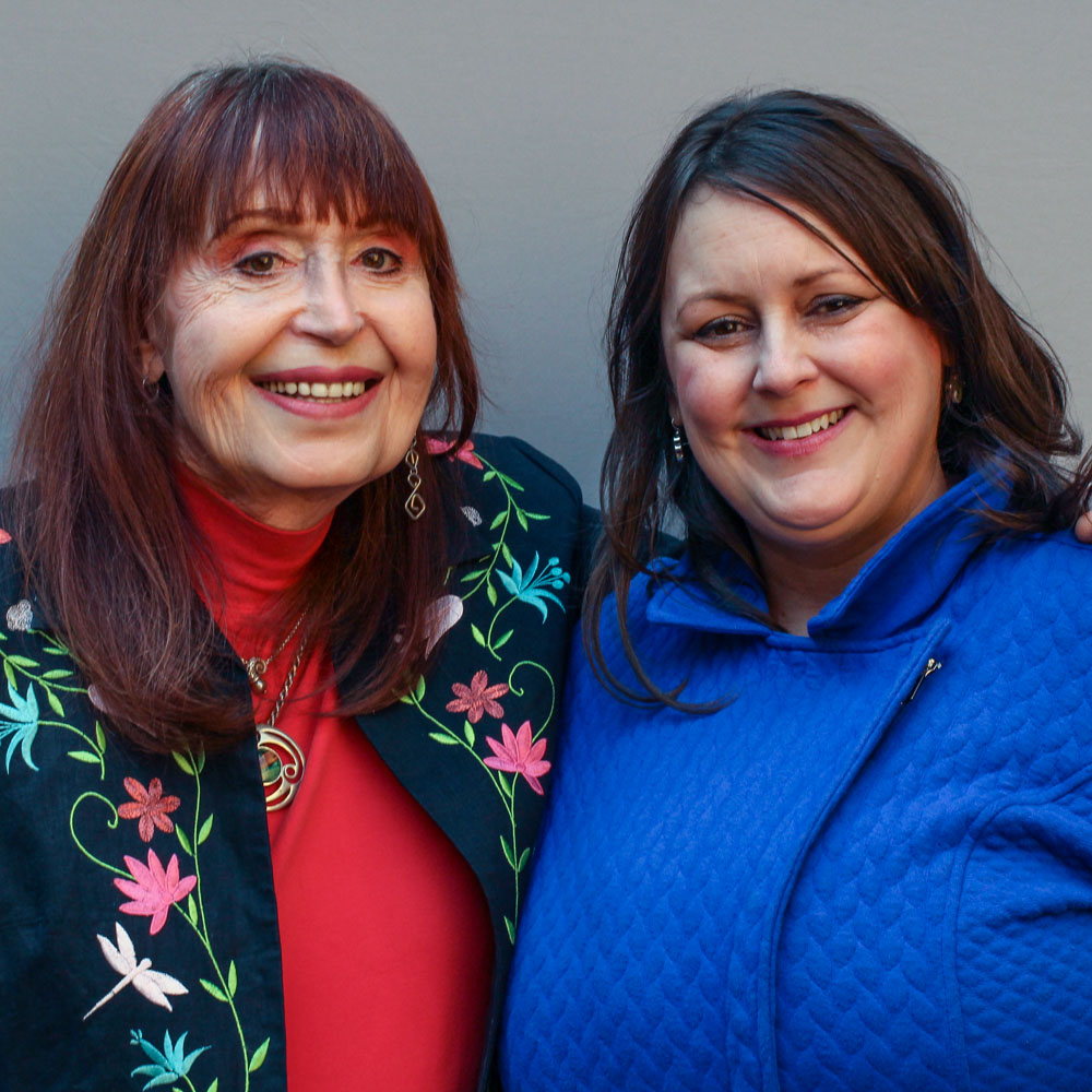Caption: Elizabeth Coffey-Williams and Jennifer Coffey at their StoryCorps interview in Philadelphia, Pennsylvania on April 8, 2019., Credit: By Jud Esty-Kendall for StoryCorps.