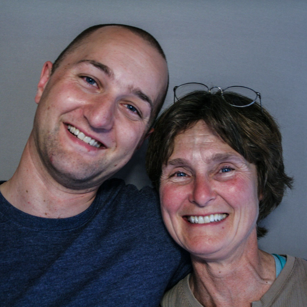 Caption: Ian Bennett and his mom, Connie Mehmel, at their StoryCorps interview in Wenatchee, WA on June 4, 2009., Credit: By Chaela Herridge-Meyer for StoryCorps.