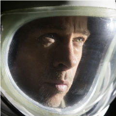 Caption: Brad Pitt in the new science fiction film, Ad Astra., Credit: 20th Century Fox