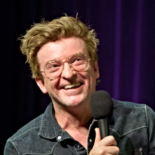 Caption: Rhys Darby on Live Wire, Credit: Jennie Baker