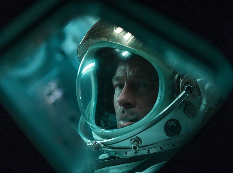 Caption: Brad Pitt in 'Ad Astra'