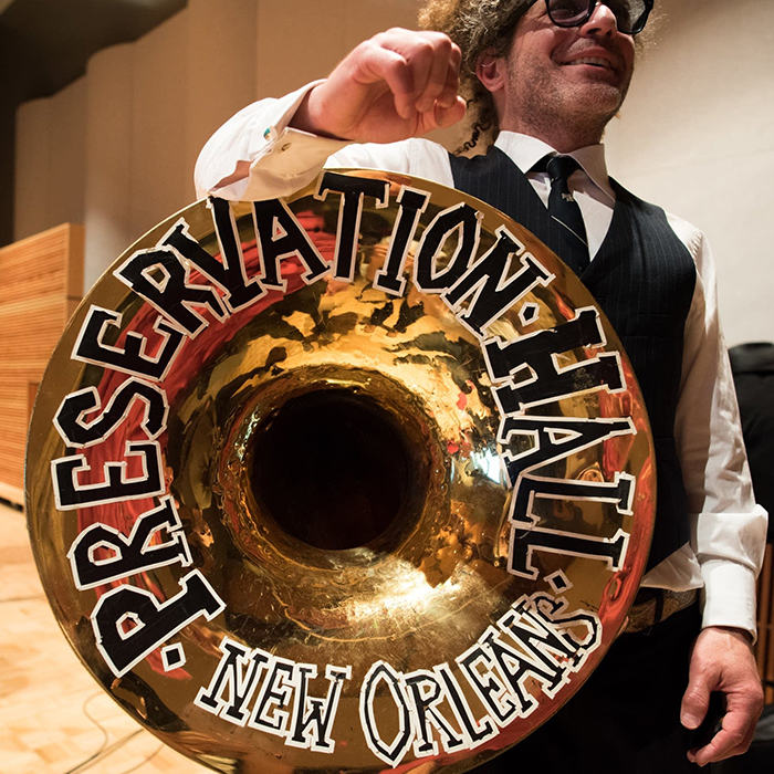 Caption: Ben Jaffe of Preservation Hall
