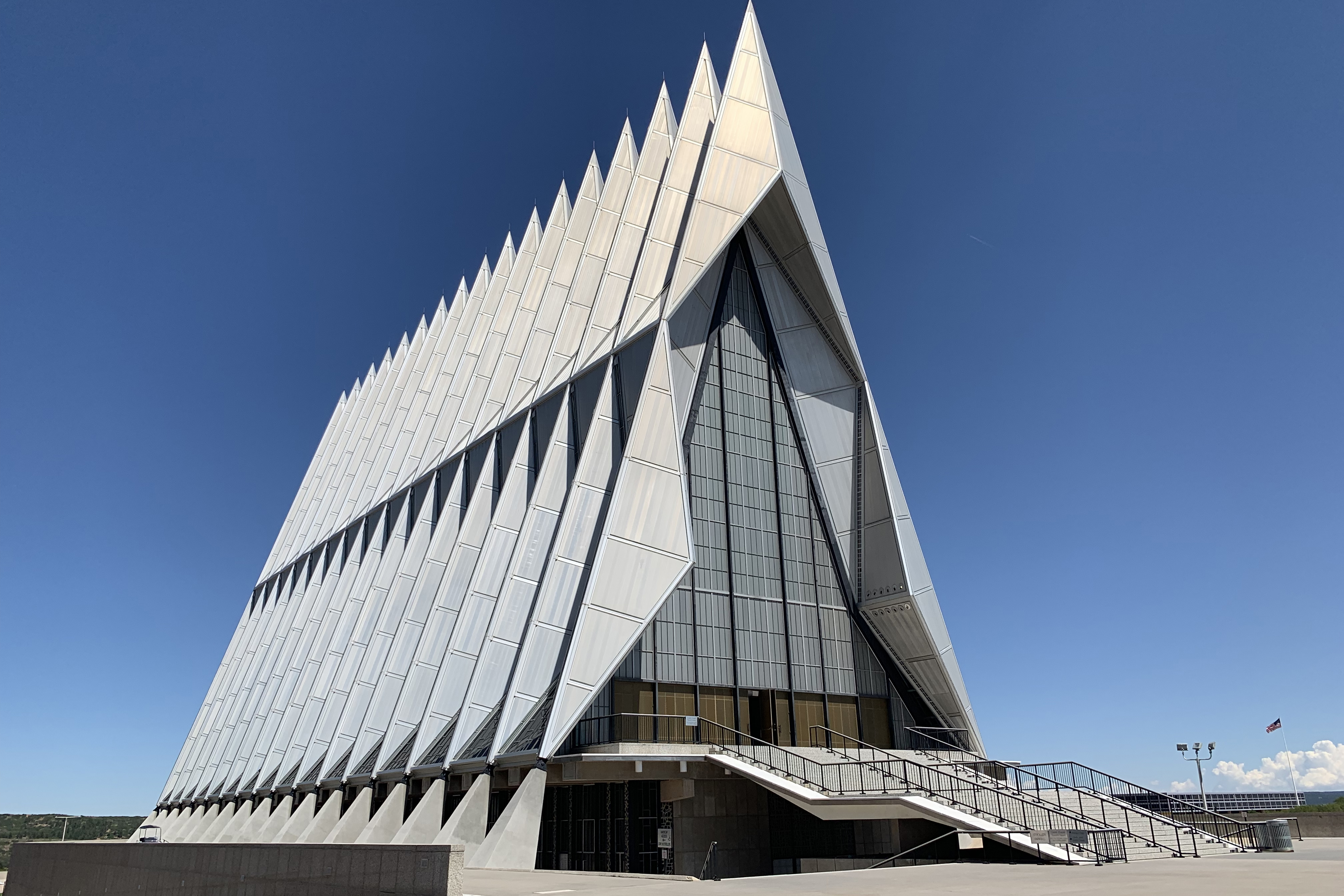 Caption: The Chapel at the United States Air Force Academy is closed for at least four years for extensive repairs., Credit: Dan Boyce / American Homefront
