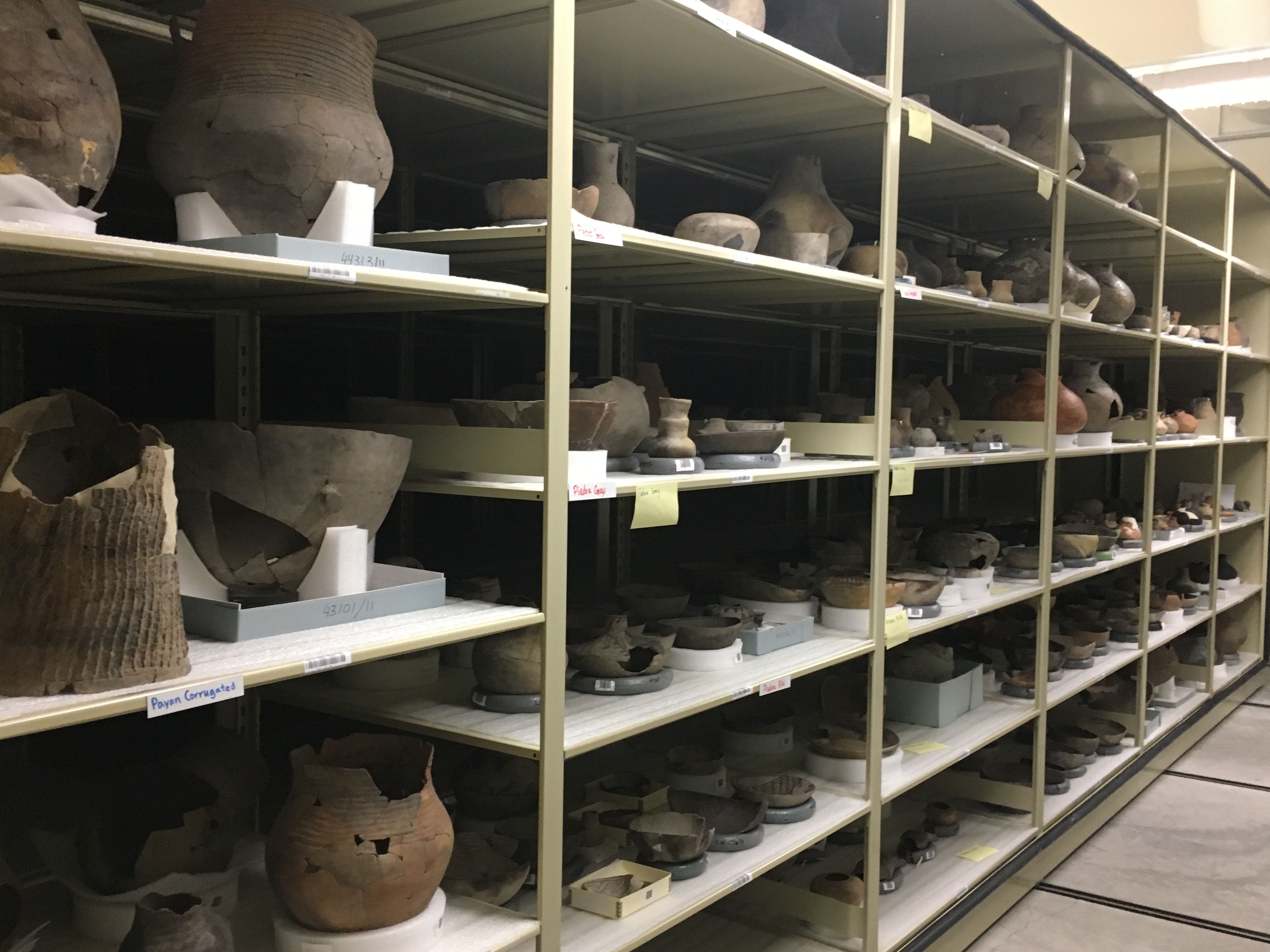 Caption: A peek at the collection of more than 8 million artifacts, Credit: Katie Stone