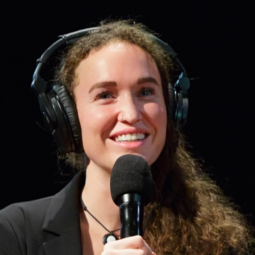 Caption: Megan Phelps-Roper on Live Wire, Credit: Jennie Baker