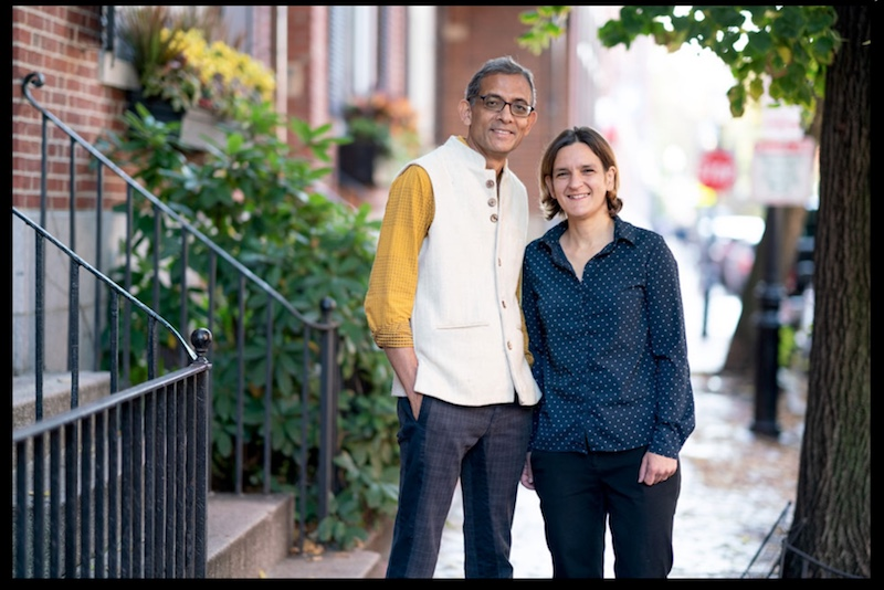 Caption: Abhijit Banerjee and Esther Duflo, Credit: Bryce Vickmark for news.mit.edu