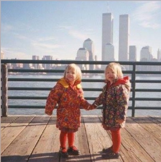 Caption: Isabel Camara and her twin Katherine as kids in New Jersey