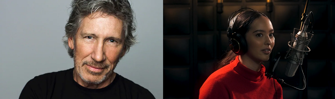 Caption: Roger Waters and Faouzia, Credit: Sony Music Canada-CBC