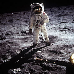 Caption: Buzz Aldrin Apollo 11