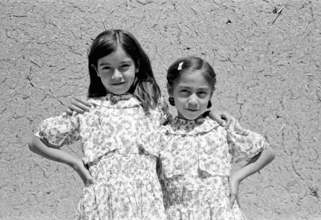 Caption: Photo by Russell Lee, New Mexico girls c. 1940