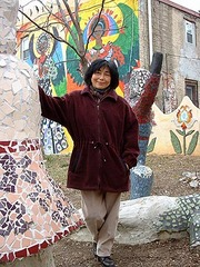 Caption: Artist Lily Yeh in Philadelphia, Pa.