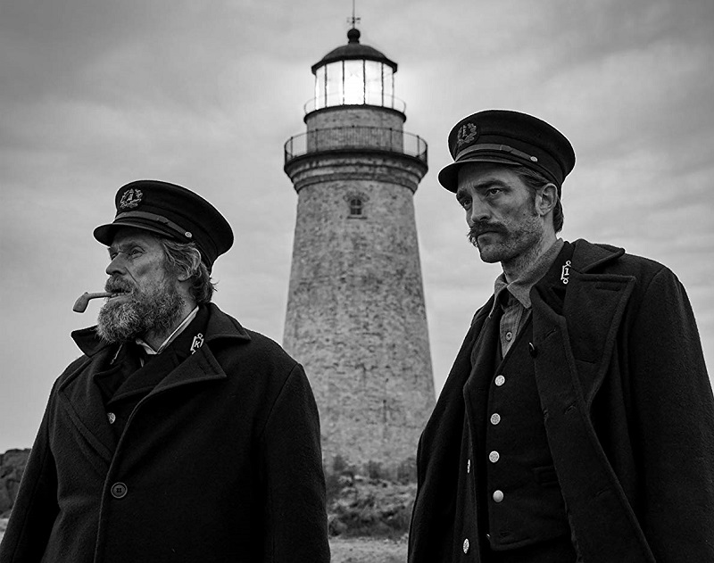 Caption: Willem Dafoe and Robert Pattinson in 'The Lighthouse' (2019)