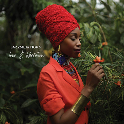 "Caption: Jazzmeia Horn's latest album ""Love & Liberation"", Credit: Album Cover"