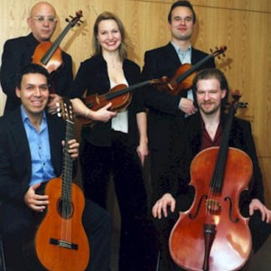 Caption: Jorge Cabellero & Axis String Quartet, Credit: Jorge Cabellero & Axis String Quarte