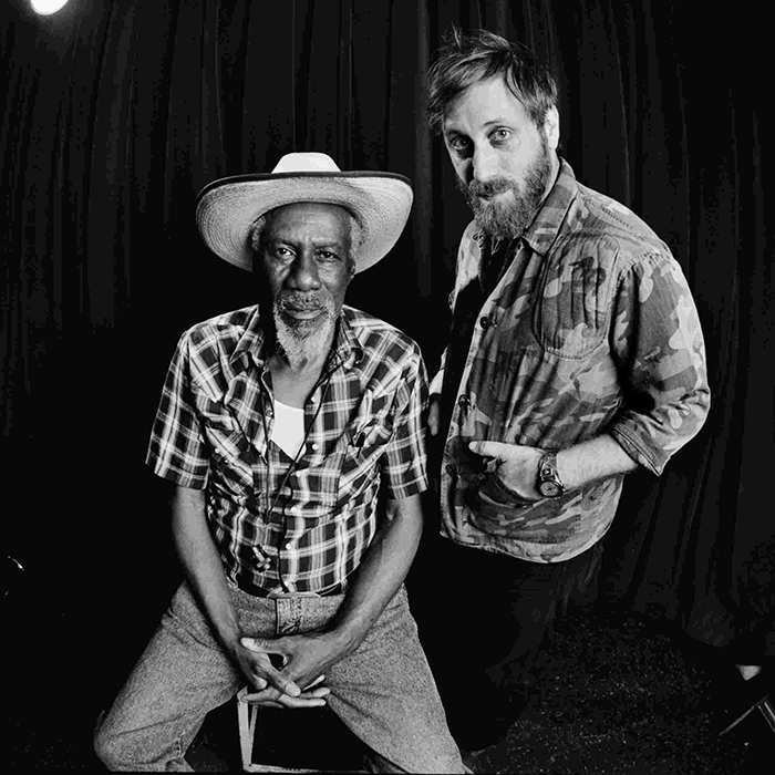 Caption: Robert Finley and Dan Auerbach