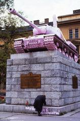 Caption: David Cerny, Ruzovy Tank (Pink Tank), Credit: artlist.cz