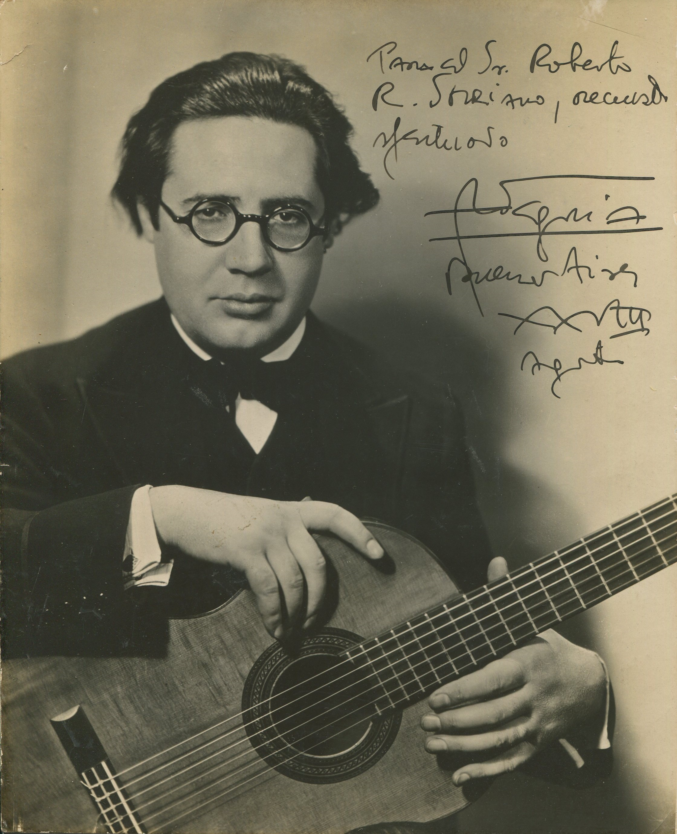 Caption: Andres Segovia, Credit: Wikipedia
